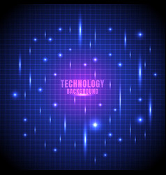 abstract technology futuristic glow line grid vector image