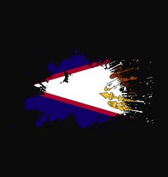 American samoa flag with grunge effect design vector