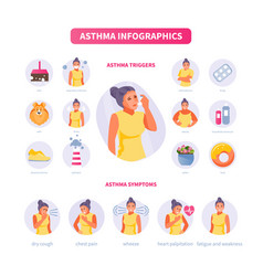 asthma infographics vector image