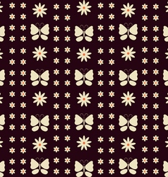 Background Flower Butterfly vector image