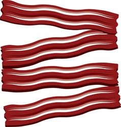 Bacon strips vector