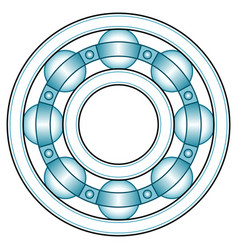 ball bearing front view vector image