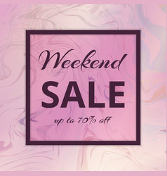 Banner weekend sales vector