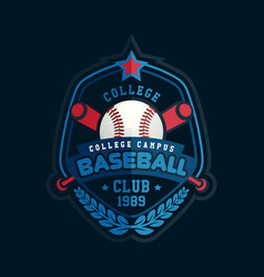 Baseball club badge sport logo template vector