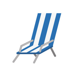 Beach chair isolated vector