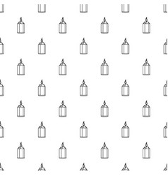 beautiful candle pattern seamless vector image