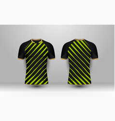 Black and green stripe with gold pattern sport vector