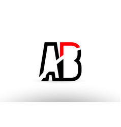 Black white alphabet letter ab a b logo icon vector