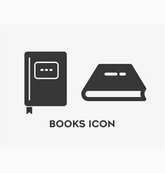 Book set icon on white background vector