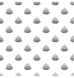 bowling strike pattern seamless vector image