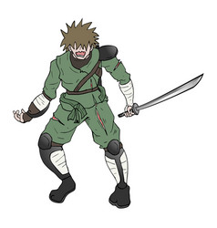 brave warrior vector image