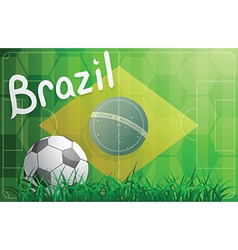 Brazil football world cup theme vector image