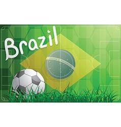 Brazil football world cup theme vector image