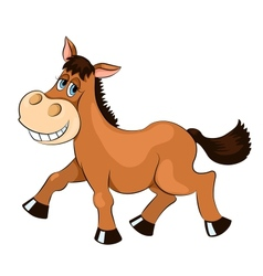 Brown mad horse vector image
