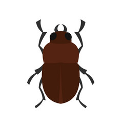 Bug icon flat style vector