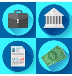 business icons and general office set vector image