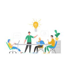 business meeting teamwork concept businessman vector image