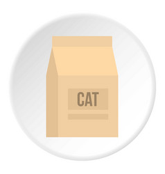 Cat food bag icon circle vector