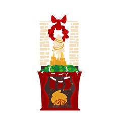 christmas holiday home scene vector image