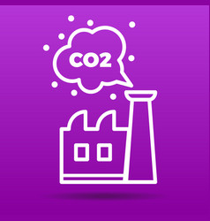 Co2 emissions icon vector