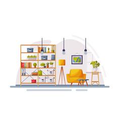 Cosy modern room interior design apartments vector