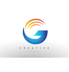 Creative corporate g letter logo icon design with vector