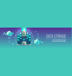 Data storage technology vector