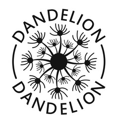 Delicate dandelion logo icon simple style vector