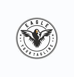 eagle logo design template vector image