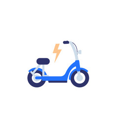 Electric bike scooter icon flat design vector