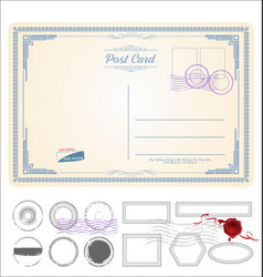 Empty post card retro vintage design 0112 vector