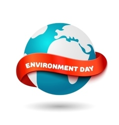 Environment day concept Big Earth globe with vector image