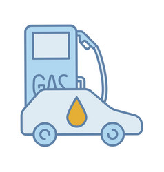 filling station color icon vector image