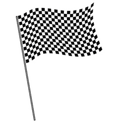 finish flag vector image