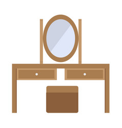 Flat color dresser icon vector