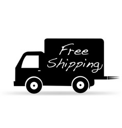 free shipping truck delivery icon vector image