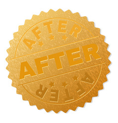 Gold after badge stamp vector