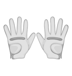 Golf gloves icon cartoon style vector image
