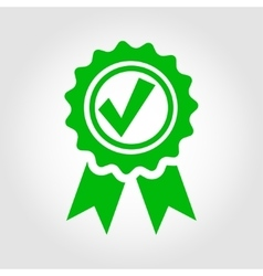 green approved certificate icon vector image