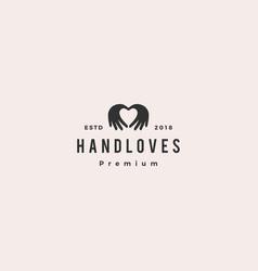 hand love logo vector image