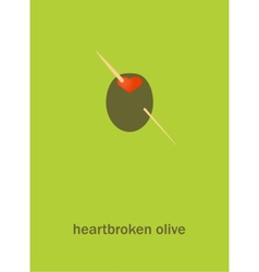 Heartbroken olive vector