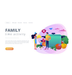 Home cooking concept landing page vector