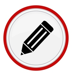 Icon pencil vector image