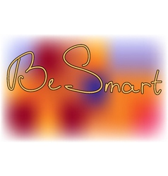 Inscription on smooth background vector