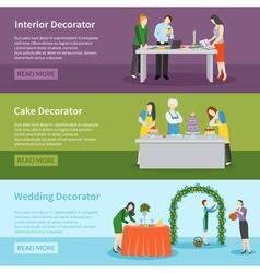 Interior Design Wedding Decoration Banners Set vector