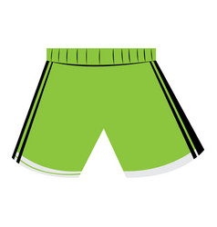Isolated sport uniform vector