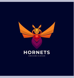 Logo hornets colorful style vector