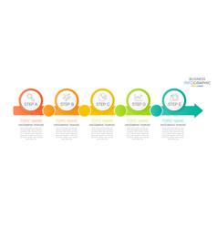 modern infographic timeline 5 option vector image