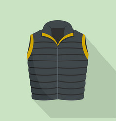 modern vest icon flat style vector image