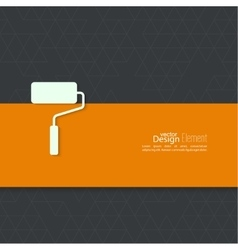 Paint roller with banner vector
